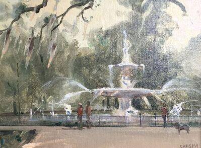 Mark Shasha, 'Forsythe Fountain, Savannah', 2021