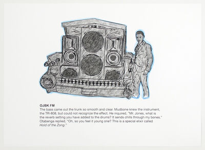 Otabenga Jones & Associates, 'OJBK FM (Coloring Page)', 2017
