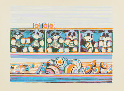 Wayne Thiebaud, 'Toy Counter, from Seven Still Lifes and a Rabbit', 1971