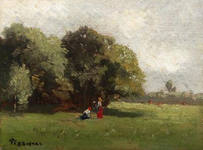 Camille Pissarro, 'Personnages à la lisière d'un bois', 1830-1903