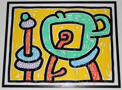 Keith Haring, 'FLOWERS III ', 1990