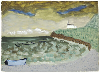Milton Avery, 'Church by the Sea', 1939