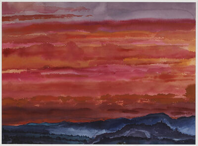 Graham Nickson, 'Crimson Sky '