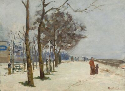 Jean Baptiste Armand Guillaumin, 'Quay in the Snow', ca. 1873