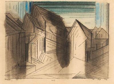 Lyonel Feininger, 'Dorf', 1923