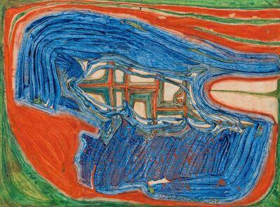 Friedensreich Hundertwasser, 'Les Fenêtres d'un Fluidoid', 1957