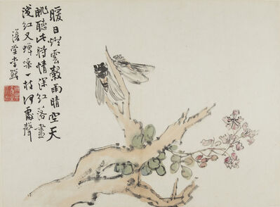 Li Shan 李鱓 (1682-1756), 'Flowers and Birds (Huaniao ce 花鳥册)', 1731