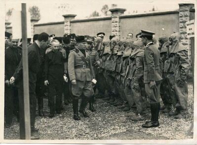 Tito Rossini, 'Mussolini Visits A Chemical Industry in Melegnano', 1935