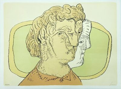 Jose Luis Cuevas, 'Portrait', 1986
