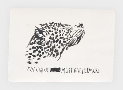 Raymond Pettibon, 'No Title (The circus must...)', 2019