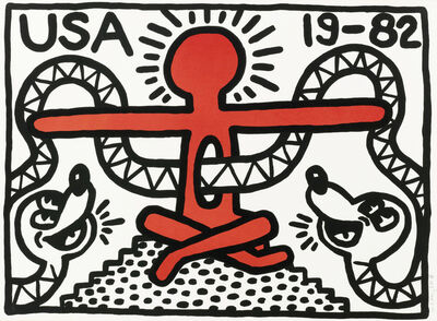 Keith Haring, 'USA 19-82 (LITTMANN 17)', 1982