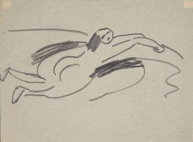 Ernst Ludwig Kirchner, 'Am Ufer liegender kleiner Akt (Small Nude lying on the Shore) ', 1910