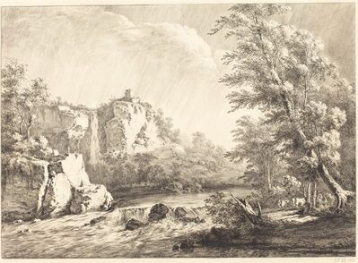 Jean-Jacques de Boissieu, 'River Landscape with a Passing Storm', 1809