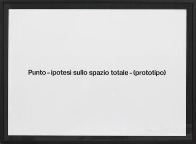 Emilio PRINI, 'Untitled (Punto-ipotesi sullo spazio totale', ca. 1967