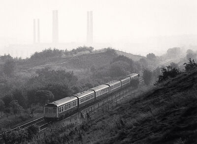Michael Kenna, 'Diesel Train and Kearsley Power Station, Prestolee, Greater Manchester', 1985