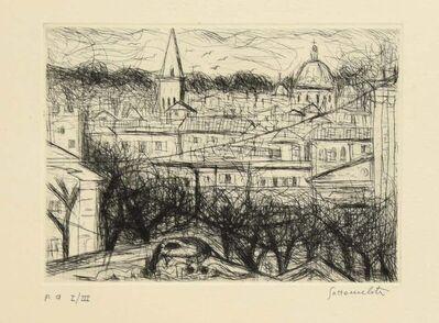 Nazareno Gattamenata, 'City View', Late 20th Century