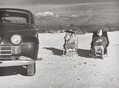 Marion Post Wolcott, 'Winter Tourists on Beach Near Sarasota Fla', 1939