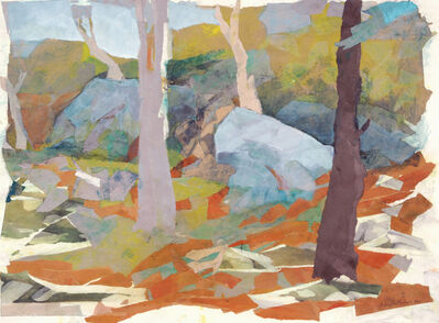 Mariella Bisson, 'Trees and Boulders', 1997