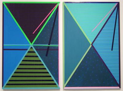 Kelley Johnson, 'Stripes Diptych 2', 2017