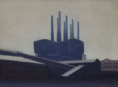 John Button, 'Industrial Buildings', 1970