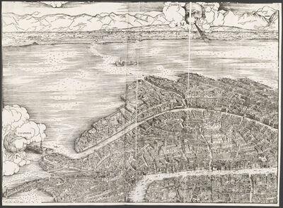 Jacopo de' Barbari, 'View of Venice [upper left block]', 1500