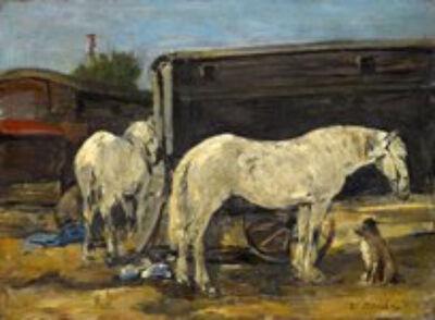 Eugène Boudin, 'Les Chevals Des Nomades', ca. 1885-1990
