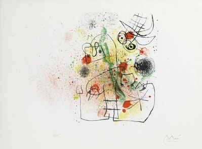 Joan Miró, 'Femme et Oiseau dans la Tourmente', 1967