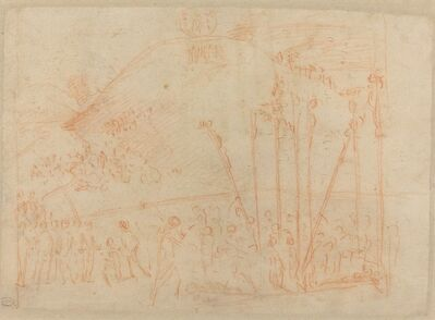 Vittore Carpaccio, 'Martyrdom of the Ten Thousand [recto]', ca. 1513