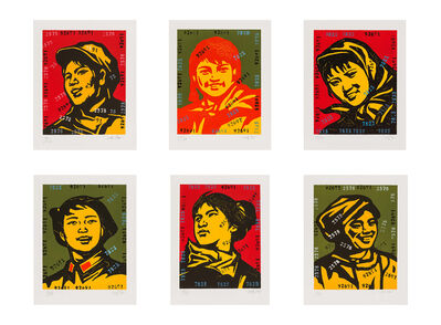 Wang Guangyi 王广义, 'Belief Girl No. 1-6 (six works)', 2006