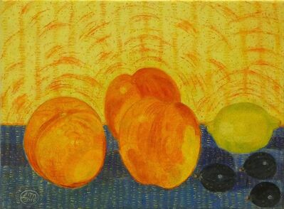Leonard McComb R.A., 'Figs, Lemons and Peaches', 2016