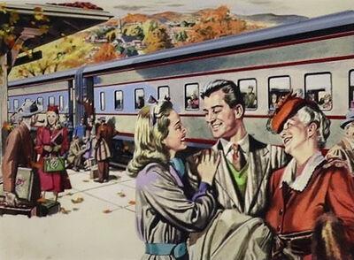 Albert Dorne, 'Pullman Advertisement, Saturday Evening Post, 1946', 1946