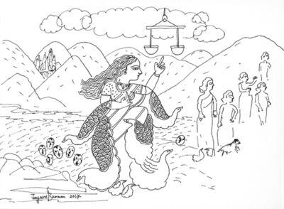 Jayasri Burman, 'From the Draupadi Series 6', 2017