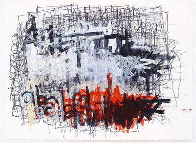 Dan Miller (b. 1961), 'Untitled (Alphabet over thin black lines)', 2012