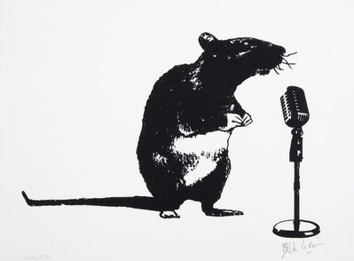 Blek le Rat, 'Crooner Rat', 2016