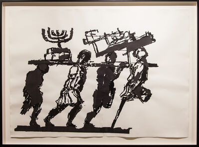 William Kentridge, 'Spoils from the Temple of Jerusalem II (drawing for Triumphs and Laments)', 2016