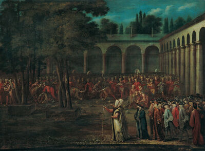 Jean Baptiste Vanmour, 'The Ambassadorial Delegation Passing through the Second Courtyard of the Topkapı Palace', 1700-1750