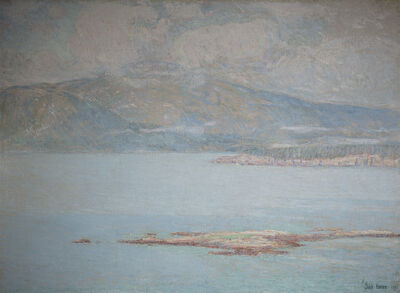 Childe Hassam, 'Looking over Frenchman's Bay at Green Mountain', 1896