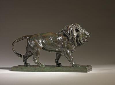 Antoine-Louis Barye, 'Walking Lion', 1870