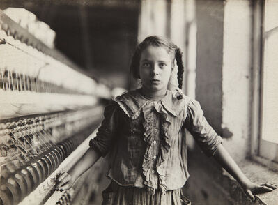 Lewis Wickes Hine, 'Ten Year Old Spinner in N. Carolina Cotton Mill', 1908