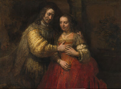 Rembrandt van Rijn, 'Portrait of a Couple as Isaac and Rebecca, known as 'The Jewish Bride'', about 1665
