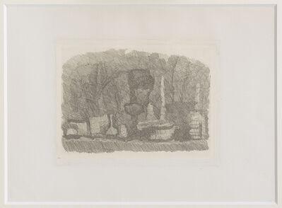 Giorgio Morandi, 'Natura morta di vasi , bottiglie ecc. su un tavolo ', 1929