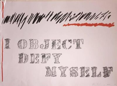 Edwin Schlossberg, 'I Object Defy Myself', 20th Century