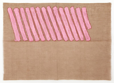 Giorgio Griffa, 'Obliquo Rosa', 1973