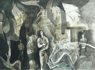 Keith Vaughan, 'The Wall at Ashton Gifford VII', ca. 1942
