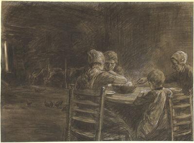Max Liebermann, 'East Frisian Peasants Eating Supper', 1893