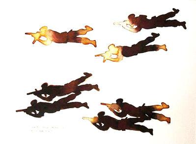 Prasanta Sahu, 'Mock Practice, figurative, Mixed Media on paper by famous Contemporary Artist Prasanta Sahu', 2009