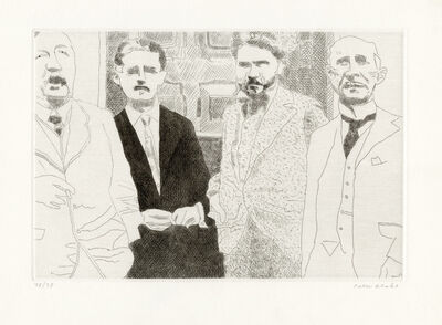 Peter Blake, 'Ford Madox Ford, Joyce, Ezra Pound and John Quinn in Pound's Paris Studio 1923', 1983-1984