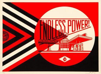 Shepard Fairey, 'Endless Power Petrol Palace (Red)', 2019