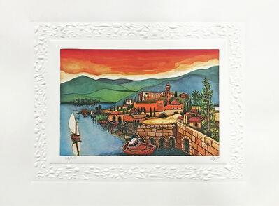 Amram Ebgi, 'SEA OF GALILEE (JUDAICA ART)', ca. 1990