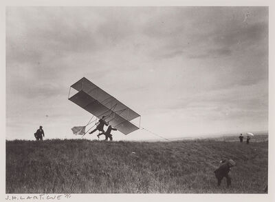 Jacques Henri Lartigue, '[Zissou takes off his ZYX 24, Rouzat]', 1910